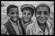 Traditional Clothing Framed Prints - Afghan Lads Framed Print by David Longstreath