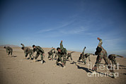 Physical Fitness Framed Prints - Afghan National Army Commandos Framed Print by Stocktrek Images