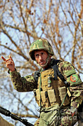 Afghan Framed Prints - Afghan National Army Soldier Framed Print by Stocktrek Images