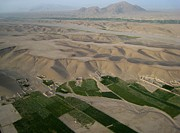 Afghan Village From The Air In Helmand Province Print by Jetson Nguyen