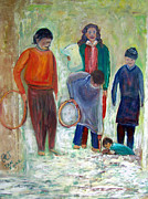 Afghanistan Paintings - Afghanistan Children 2 by Patricia Taylor