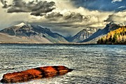 West Glacier Framed Prints - Afloat Framed Print by Adam Jewell