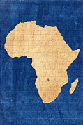 Map Of Africa Posters - Africa Poster by Andrew Fare