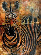 Zebra Face Prints - Africa Print by Deborah Hall Barry