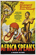 Movie Posters Framed Prints - Africa Speaks Framed Print by Mascot Pictures