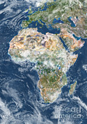 Planet Observer - Africa With Cloud Coverage