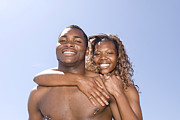 Friendliness Posters - African American Couple Embracing Poster by Joe Belanger