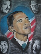 Obama Pastels Framed Prints - African-American Love Framed Print by Demitrius Roberts