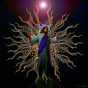 Jesus Digital Art Originals - African Ascension by Michael Durst