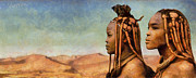 Desert Digital Art Originals - African Beauty by Marina Likholat