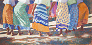 Colors Pastels Prints - African Colors Print by Tracy L Teeter