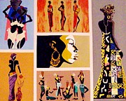Fast Paintings - African Culture by Lynette  Swart
