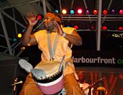 African Drummer Print by Eva Kato