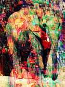 Gentle Digital Art - African Elephant by Robert Ball
