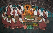 Christian Tapestries - Textiles - African Last Supper by Lukandwa Dominic