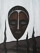 African Mask II Print by Eva-Maria Becker