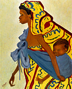 Sher Nasser - African Mother and Child