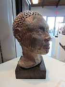 Fired Sculptures - African Portrait by Jordan  Hall