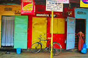 Store Fronts Prints - African Shopping Print by Nichon Thorstrom