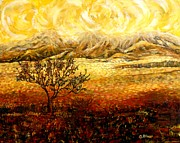 Carolinestreet Posters - African Sunset Poster by Caroline Street