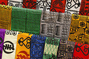 West Africa Framed Prints - African Textiles Framed Print by Michele Burgess