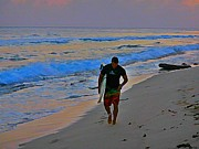 Tropical Photographs Art - After a Long Day of Surfing by John Malone