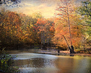 Autumn Scene Framed Prints - After Daybreak Framed Print by Jai Johnson