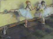 Ballet Dancers Originals - After Degas 2 by Dorothy Siclare