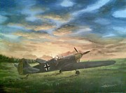 Plane Painting Originals - After fight by Alexandru Hortolomei
