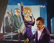 Blues Singers Paintings - After Hours by Judy Kay