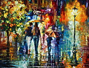 Building Painting Originals - After hours by Leonid Afremov
