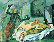 John Peter Art - After lunch in Naples by Cezanne by John Peter
