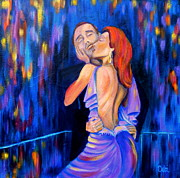 Sensual Lovers Paintings - After Party by Debi Pople