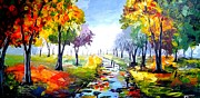 Pallet Knife Prints - After Rain Print by Evans Yegon