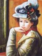 Anke Wheeler Paintings - After Renoir-Young Woman by Anke Wheeler
