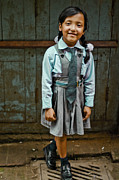 Photojournalism Prints - After School Pose Print by Valerie Rosen