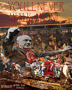 Liverpool Football Prints - After the Battle of the Spion Kop Memorial for Scouser Tommy Print by Tony Hoy