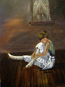 The Ballet Painting Originals - After the Dance by Sharon Burger