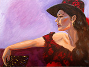 Woman In Black Dress Paintings - After the Dance by Whitney Morton