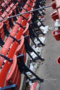 Mlb Metal Prints - After The Game Metal Print by Greg DeBeck
