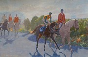 Horse Racing Paintings - After The Race by Terry Perham