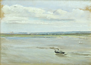 Boats On Water Prints - After the Rain Print by Max Liebermann