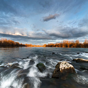 River Landscape Photos - After the rain - square by Davorin Mance