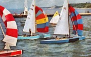 Sail Digital Art Prints - After the Regatta  Print by Michelle Calkins