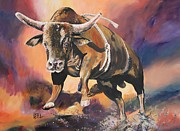 Rodeo Art Painting Posters - After the Ride Poster by Leonie Bell
