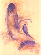 Figure Drawing Pastels Prints - After the Show Print by Lucy Morar