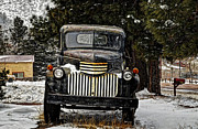 Chevy Pickup Truck Framed Prints - After the Snow Falls Framed Print by Ken Smith