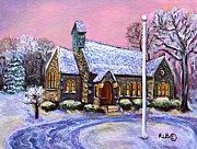 Christmas Eve Painting Posters - After the Snow on Christmas Eve Poster by Rita Brown