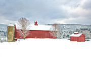 Winter Scenes Rural Scenes Prints - After the Storm Print by Bill  Wakeley