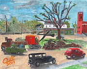 Old Trucks Paintings - After the Storm by Cliff Wilson